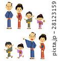 江戸時代 家族 着物のイラスト 28123159