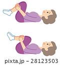 健康 体操 シニア 膝抱え 28123503