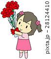 母の日 カーネーション 女の子 28124410