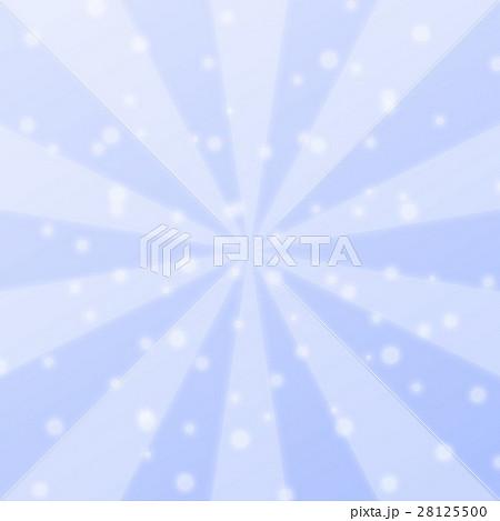 幻想的な集中線と丸いキラキラエフェクト 背景デザイン素材 ブルー系 正方形 28125500