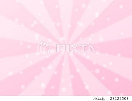 幻想的な集中線と丸いキラキラエフェクト 背景デザイン素材 ピンク系 横長 28125503