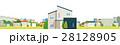 住宅 一軒家 街のイラスト 28128905