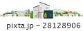 家 一軒家 街のイラスト 28128906