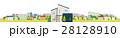 家 一軒家 街のイラスト 28128910