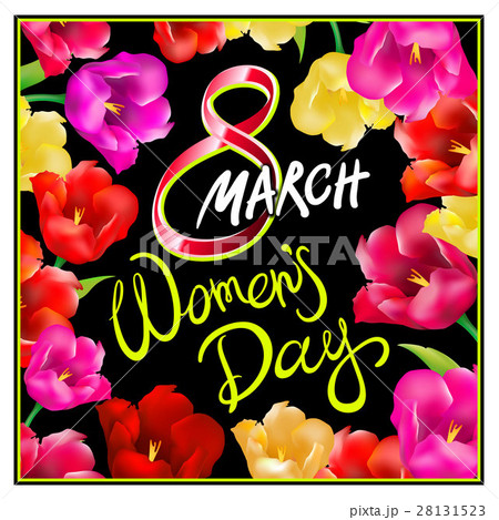 8 march women day, Hand lettering text calligraphyのイラスト素材 [28131523] - PIXTA