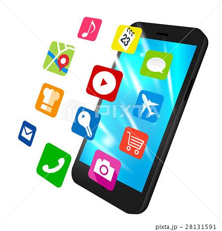 スマートフォン素材 アプリのイラスト素材 28131591 Pixta