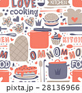 Cooking seamless pattern retro style with kitchen 28136966