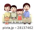 家族 一家団らん ソファのイラスト 28137462