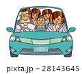 家族 ドライブ 自動車のイラスト 28143645