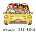 家族 ドライブ 自動車のイラスト 28143648