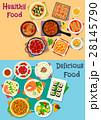 Healthy food icon set for restaurant menu design 28145790