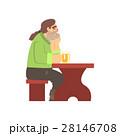 1人 一人 孤独のイラスト 28146708