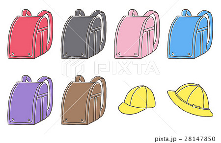 小学生の通学 ランドセル・通学帽 黄色い帽子 28147850