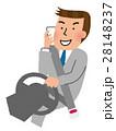 ながら運転 運転 通話中のイラスト 28148237