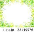 木漏れ日 葉っぱ フレームのイラスト 28149576