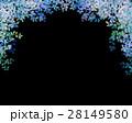 木漏れ日 葉っぱ フレームのイラスト 28149580