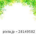 木漏れ日 葉っぱ フレームのイラスト 28149582