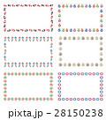日本の夏素材の飾り枠 28150238
