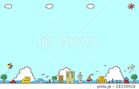街並み 海背景 28150916