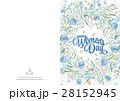 Greeting card with cute little flowers. 8 march - 28152945