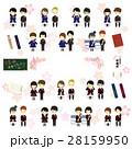 桜の卒業式アイコンセット 28159950