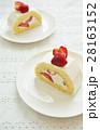 苺(イチゴ)のロールケーキ(Strawberry Roll) 28163152