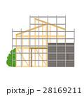 家 建築 建築中のイラスト 28169211