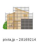 家 建築 建築中のイラスト 28169214