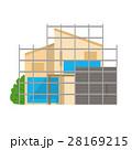 家 建築 建築中のイラスト 28169215