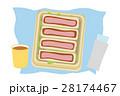 カツサンド お弁当 パンのイラスト 28174467