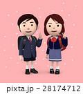 入学 小学生 新入生のイラスト 28174712