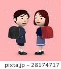 入学 小学生 新入生のイラスト 28174717