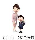 入学 小学生 新入生のイラスト 28174943