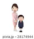 入学 小学生 新入生のイラスト 28174944