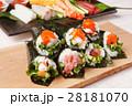 手巻き寿司 和食 寿司の写真 28181070