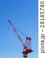 クレーン タワークレーン 青空の写真 28185780