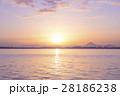 朝焼け 琵琶湖 28186238