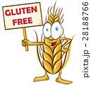 wheat cartoon with signboard 28188766