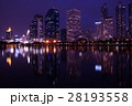 タイ王国、首都、バンコクの夜景、景観、風景 28193558