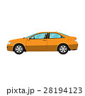Generic orange coupe car isolated on white 28194123