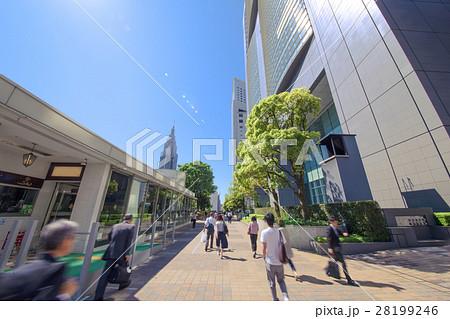 【新宿サザンテラス】遊歩道・歩行者 28199246
