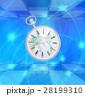 インターネットで時計が時間を刻んでいく 28199310