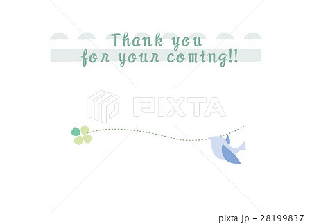青い鳥のお礼状 28199837