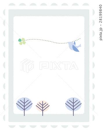 青い鳥のメッセージカード 28199840