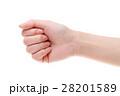若い女性の手 グー 28201589
