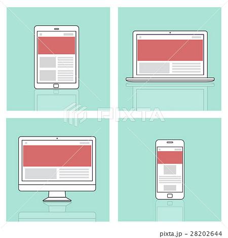web design template copy space concept 28202644 pixta. Black Bedroom Furniture Sets. Home Design Ideas