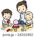 親子 子供 家族のイラスト 28202892