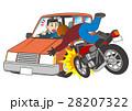 自動車とオートバイの事故 28207322