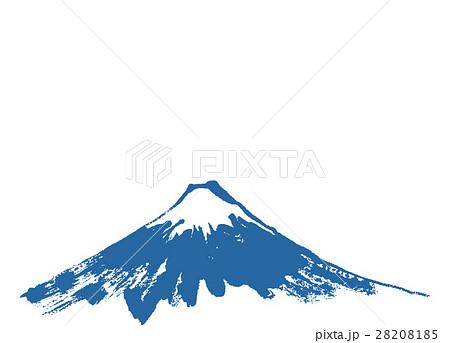 富士山 水墨画 水彩画のイラスト素材 28208185 Pixta