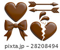 チョコレート バレンタイン お菓子のイラスト 28208494